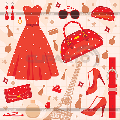 Paris fashion set | Stock Vector Graphics |ID 3167738
