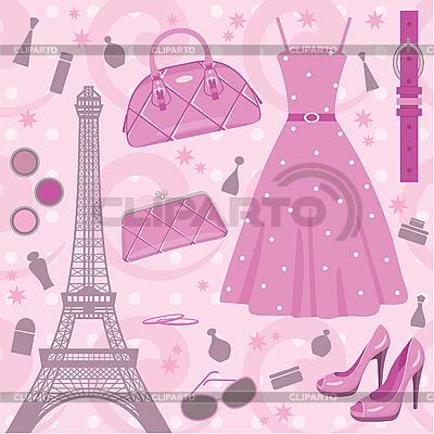 파리 패션 세트 | 벡터 클립 아트 |ID 3167740