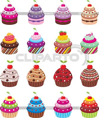 картинки мультяшных кексов