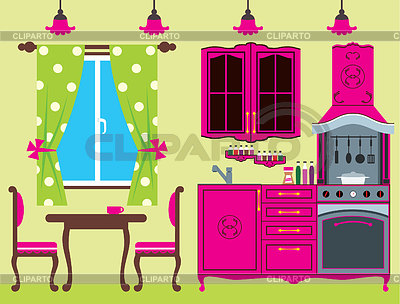 Kitchen furniture. Interior | Stock Vector Graphics |ID 3329569
