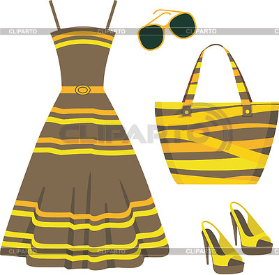 Summer set of clothes | Stock Vector Graphics |ID 3352749