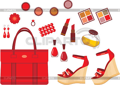 Set rot-Zubehör | Stock Vektorgrafik |ID 3352778