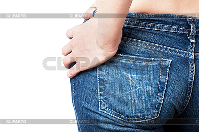 Womans jeans backside | High resolution stock photo |ID 3151071