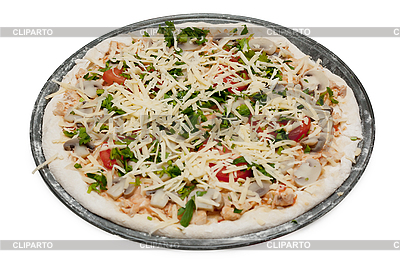 Uncooked vegetarian pizza   High resolution stock photo  ID 3151440