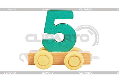 Wooden toy number 5 | High resolution stock photo |ID 3153481