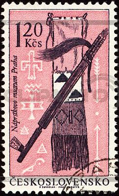American indian craftsmanship on post stamp | High resolution stock illustration |ID 3154965