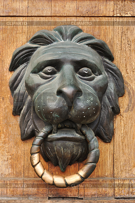Türklopfer mit dem Kopf eines Löwen | Foto mit hoher Auflösung |ID 3218714
