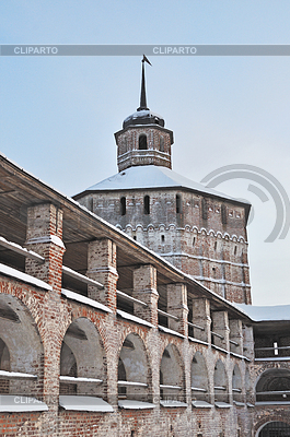 Wall and tower of Kirillo-Belozersky monastery, Russia | High resolution stock photo |ID 3221578