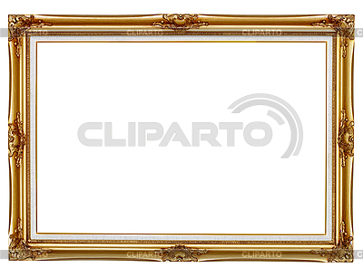 Gilded frame for painting background | High resolution stock photo ...