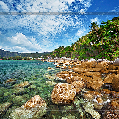 Побережье тропического океана - Таиланд | Фото большого размера |ID 3144352