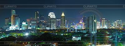 Panorama von Nachtstadt - Thailand, Bangkok | Foto mit hoher Auflösung |ID 3144895