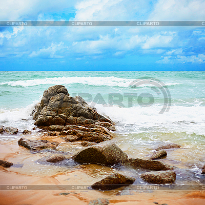 Tropical wybrzeżu oceanu - Krajobraz | Foto stockowe wysokiej rozdzielczości |ID 3144922
