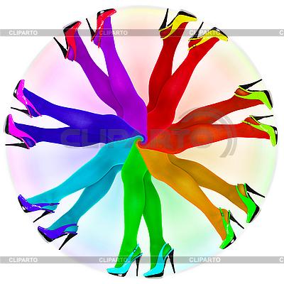 抽象构成 - 彩虹色连裤袜 | 高分辨率插图 |ID 3145065