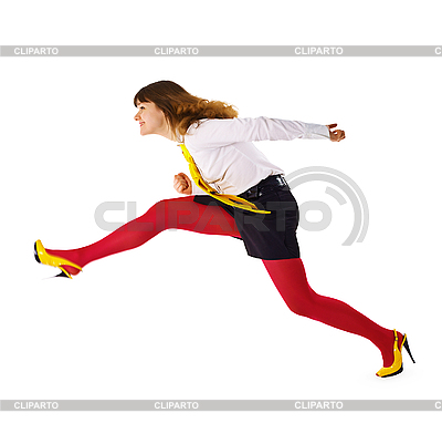 Business woman hurrying up   High resolution stock photo  ID 3145667