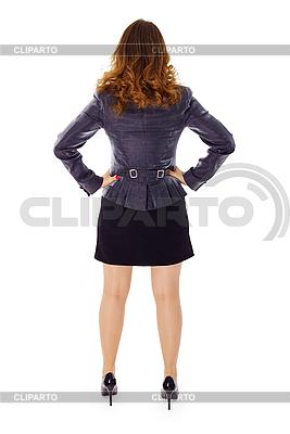 Kobieta w garniturze - widok z tyłu | Foto stockowe wysokiej rozdzielczości |ID 3145729