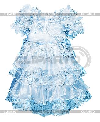 Ein Kleines Blaues Kleid Fur Madchen Foto Mit Hoher Auflosung Cliparto