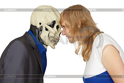 Confrontation of death and people   High resolution stock photo  ID 3147485