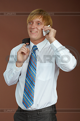 Young man talking on phone | High resolution stock photo |ID 3147516