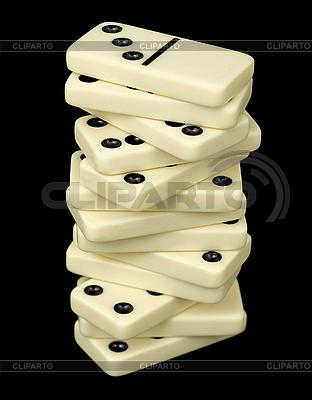 Wieża z kości domino | Foto stockowe wysokiej rozdzielczości |ID 3148161