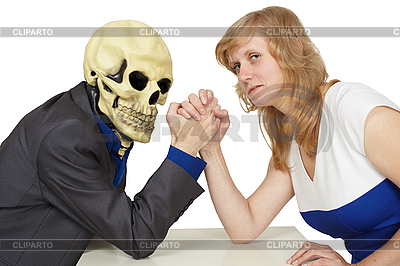 Woman struggles against death | High resolution stock photo |ID 3148348