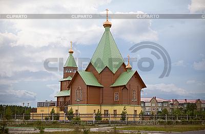 Moderne christliche Holzkirche | Foto mit hoher Auflösung |ID 3148763