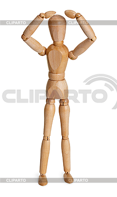 Wooden toy person | High resolution stock photo |ID 3148944