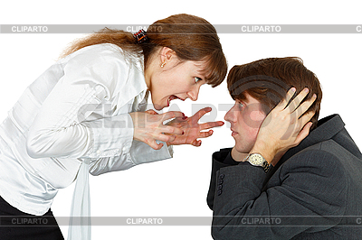 Young woman shouting at man | High resolution stock photo |ID 3149844