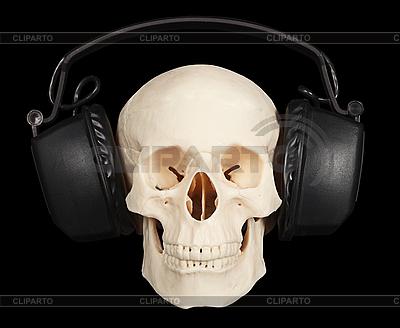 Human skull with stereo headphones   High resolution stock photo  ID 3152604
