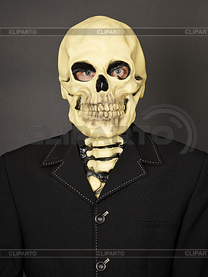 Portrait of man in mask of death   High resolution stock photo  ID 3152659