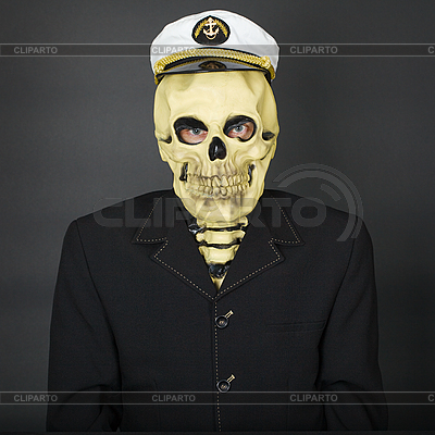 Man - skeleton in naval cap | High resolution stock photo |ID 3152732
