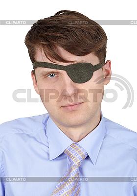 Portret człowieka z jednym okiem | Foto stockowe wysokiej rozdzielczości |ID 3153648