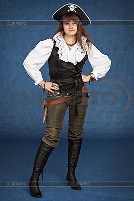 Красивая девушка - пират | Фото большого размера |ID 3160479