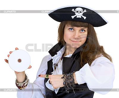 Pirat - kobieta z płyty | Foto stockowe wysokiej rozdzielczości |ID 3165876