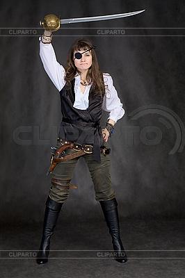 картинки девушка пират