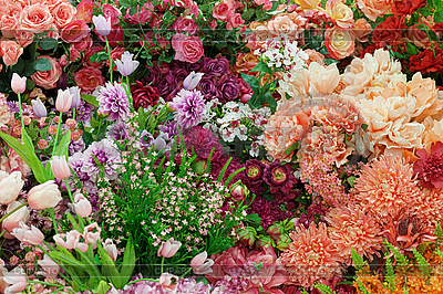 Background of artificial flowers | High resolution stock photo |ID 3183709
