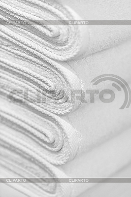 Stack of new white towels - background   High resolution stock photo  ID 3183710