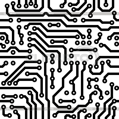 Seamless texture - circuit board | Stock Vector Graphics |ID 3288962