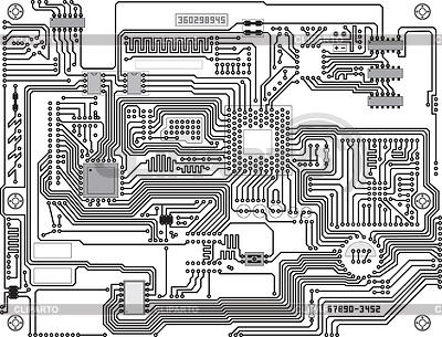 电路 - 工业高科技背景 | 向量插图 |ID 3288968
