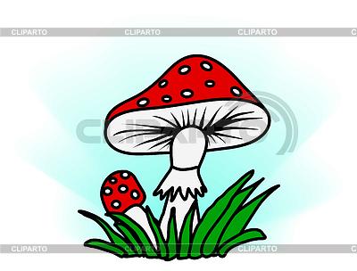 Amanita in grass   Stock Vector Graphics  ID 3289039