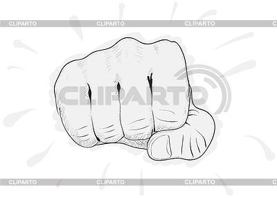 Prosty szkic - pięść | Klipart wektorowy |ID 3289059