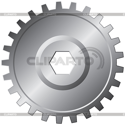 Steel gear | Klipart wektorowy |ID 3290946