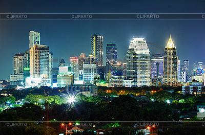 City at night. Thailand, Bangkok, center | High resolution stock photo |ID 3304822