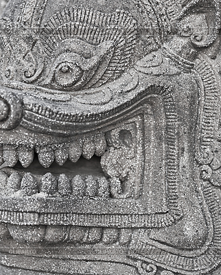 Stone head of an ancient Buddhist deity | High resolution stock photo |ID 3325546