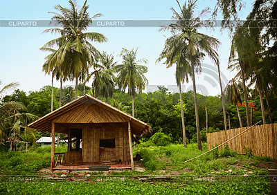 Bamboo Hut in old Thai village | High resolution stock photo |ID 3364878