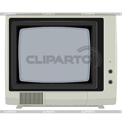 Stary telewizor z plastikowej obudowy | Klipart wektorowy |ID 3144434