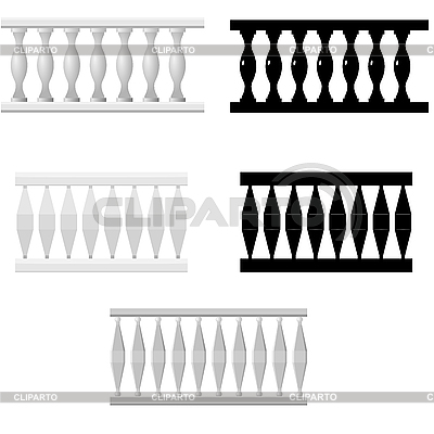 Set of baluster silhouettes | Stock Vector Graphics |ID 3184936