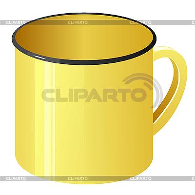 Yellow enamel mug | Stock Vector Graphics |ID 3206600