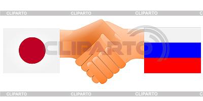 Oznaka przyjaźni Rosja i Japonia | Klipart wektorowy |ID 3206636
