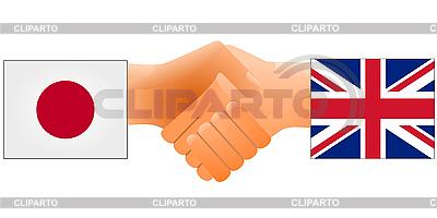 Sign of friendship the United Kingdom and Japan | Klipart wektorowy |ID 3206645