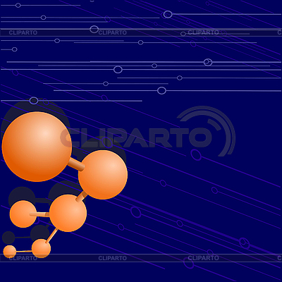 Background with molecule   Stock Vector Graphics  ID 3209395